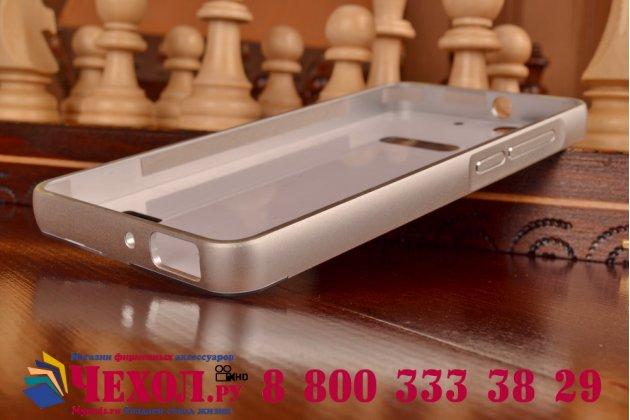 Фирменная металлическая задняя панель-крышка-накладка из тончайшего облегченного авиационного алюминия для Huawei Honor 4C серебристая