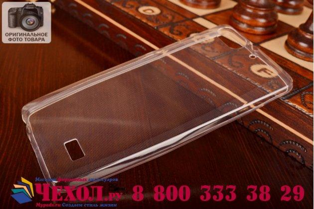 Фирменная ультра-тонкая полимерная из мягкого качественного силикона задняя панель-чехол-накладка для Huawei Honor 4c  белая