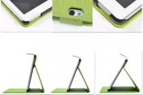 """Фирменный чехол с красивым узором для планшета Huawei MediaPad M2 10.0 M2-A01W/L 10.1"""" зеленый натуральная кожа Италия"""