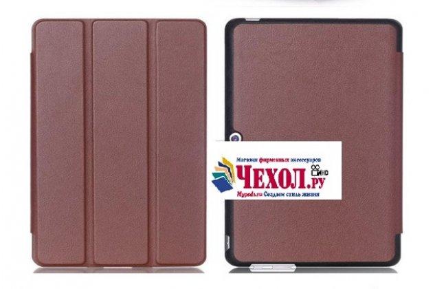 """Фирменный умный тонкий чехол для Huawei MediaPad M2 10.0 M2-A01W/L 10.1  """"Il Sottile"""" коричневый пластиковый"""