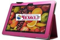 Чехол-обложка для Huawei Mediapad 10 FHD/10 Link розовый кожаный