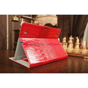Фирменный чехол-обложка для Huawei Mediapad 10 FHD кожа крокодила красный