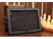 Чехол-обложка для Huawei Mediapad 10 Link черный кожаный..