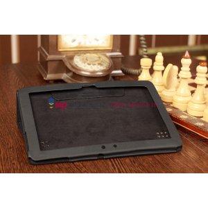 Чехол-обложка для Huawei Mediapad 10 Link черный кожаный