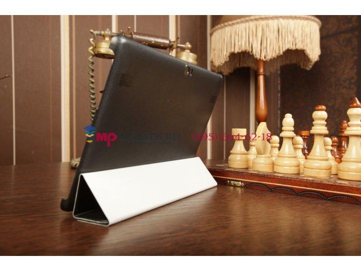 Тонкий легкий фирменный чехол-обложка для Huawei Mediapad 10 Link черный пластиковый..