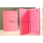 Чехол-обложка для Huawei Mediapad 10 Link розовый кожаный