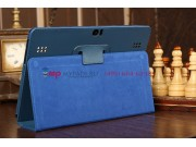 Чехол-обложка для Huawei Mediapad 10 Link синий кожаный..