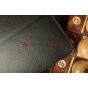 Фирменный чехол-обложка для Huawei Mediapad 7 Vogue черный кожаный