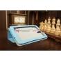 Фирменный чехол-обложка для Huawei Mediapad 7 Vogue голубой кожаный