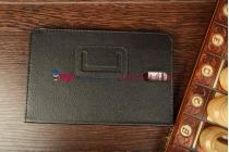 Фирменный оригинальный чехол-обложка для Huawei Mediapad 7 Youth черный кожаный