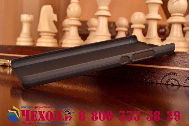 Фирменная задняя панель-крышка-накладка из тончайшего и прочного пластика для Huawei P8 Lite черная