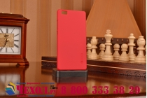 Фирменная задняя панель-крышка-накладка из тончайшего и прочного пластика для Huawei P8 Lite красная