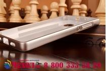 Фирменная металлическая задняя панель-крышка-накладка из тончайшего облегченного авиационного алюминия для Huawei P8 Lite серебристая