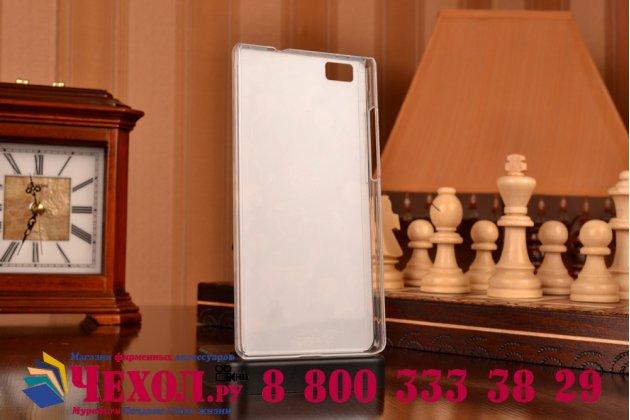 Фирменная пластиковая задняя панель-чехол-накладка с безумно красивым расписным рисунком Оленя в цветах для Huawei P8 Lite