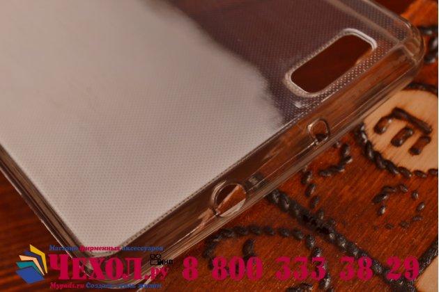 Фирменная ультра-тонкая полимерная из мягкого качественного силикона задняя панель-чехол-накладка для Huawei P8 Lite черная