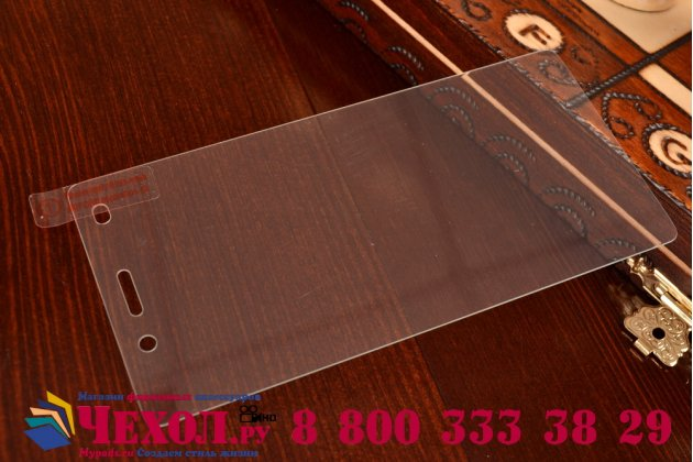 Фирменное защитное закалённое стекло премиум-класса из качественного японского материала с олеофобным покрытием для Huawei P8 Lite