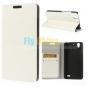 Фирменный чехол-книжка из качественной импортной кожи с подставкой застёжкой и визитницей для Huawei Ascend G6..