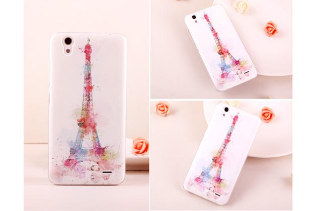 """Фирменная роскошная задняя панель-чехол-накладка с расписным узором для Huawei Ascend G630 тематика """"Франция"""""""