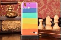 """Фирменная необычная из легчайшего и тончайшего пластика задняя панель-чехол-накладка для Huawei Ascend G630 """"тематика Все цвета Радуги"""""""