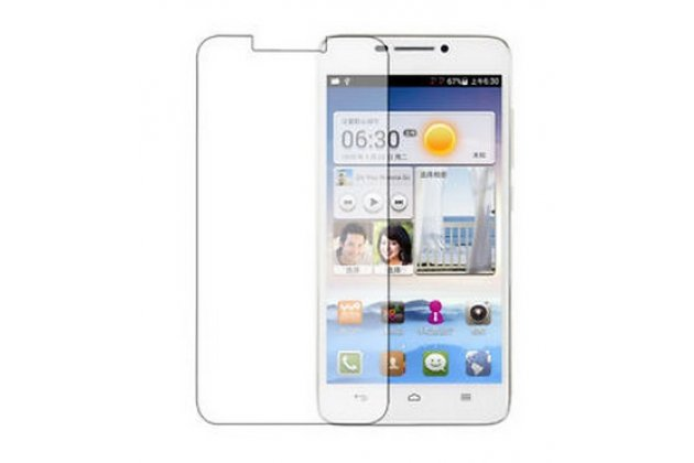 Фирменная оригинальная защитная пленка для телефона Huawei Ascend G630 Dual Sim глянцевая