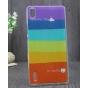 Фирменная необычная из легчайшего и тончайшего пластика задняя панель-чехол-накладка для Huawei Ascend P7 / P7..