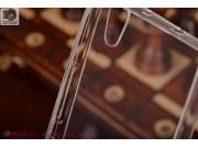 Фирменная ультра-тонкая полимерная мягкая задняя панель-чехол-накладка для Huawei Ascend P7 белая..