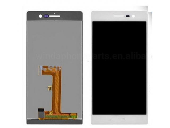 Фирменный LCD-ЖК-сенсорный дисплей-экран-стекло с тачскрином на телефон Huawei Ascend P7 / P7 Dual Sim белый +..