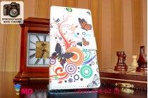 """Фирменный уникальный необычный чехол-книжка для Huawei Ascend P7/P7 Dual Sim L00/L10  """"тематика цветок Сакуры"""""""