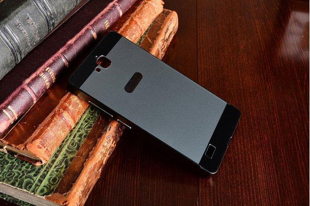 Фирменная металлическая задняя панель-крышка-накладка из тончайшего облегченного авиационного алюминия для Huawei Honor 3C Lite черная