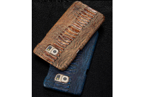 Фирменная элегантная экзотическая задняя панель-крышка с фактурной отделкой натуральной кожи крокодила кофейного цвета для Huawei Honor 6. Только в нашем магазине. Количество ограничено.