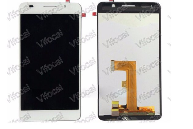Фирменный LCD-ЖК-сенсорный дисплей-экран-стекло с тачскрином на телефон Huawei Honor 6 белый + гарантия