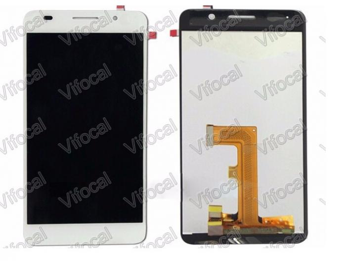 Фирменный LCD-ЖК-сенсорный дисплей-экран-стекло с тачскрином на телефон Huawei Honor 6 белый + гарантия..