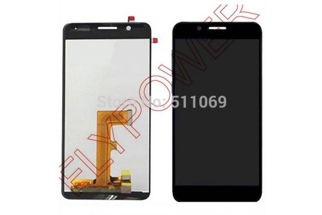 Фирменный LCD-ЖК-сенсорный дисплей-экран-стекло с тачскрином на телефон Huawei Honor 6 черный + гарантия