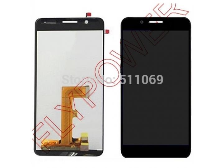 Фирменный LCD-ЖК-сенсорный дисплей-экран-стекло с тачскрином на телефон Huawei Honor 6 черный + гарантия..