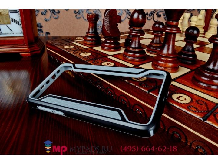 Фирменный оригинальный чехол-бампер для Huawei Honor 6 (H60-L04) черный прорезиненный..