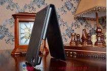 """Фирменный оригинальный вертикальный откидной чехол-флип для Хуавей Хонор 6/Honor 6 Dual Sim черный из качественной импортной кожи """"Prestige"""" Италия"""