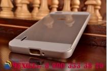 Фирменная металлическая задняя панель-крышка-накладка из тончайшего облегченного авиационного алюминия для Huawei Honor 6 серебристая