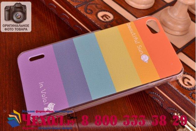 """Фирменная необычная из легчайшего и тончайшего пластика задняя панель-чехол-накладка для Huawei Honor 6 """"тематика Все цвета Радуги"""""""