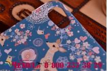 Фирменная пластиковая задняя панель-чехол-накладка с безумно красивым расписным рисунком Оленя в цветах для Huawei Honor 6