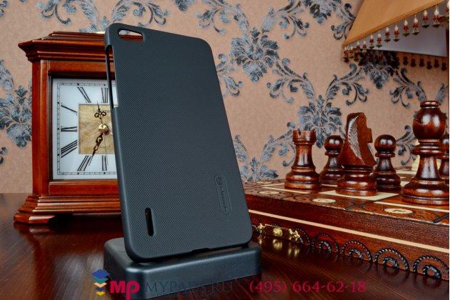 Задняя панель-крышка-накладка из тончайшего и прочного пластика для Huawei Honor 6 черная