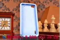 """Фирменная необычная уникальная полимерная мягкая задняя панель-чехол-накладка для Huawei Honor 6  """"тематика Андроид в черничном шоколаде"""""""