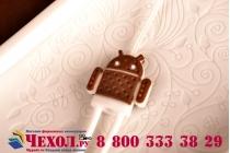 """Фирменная необычная уникальная полимерная мягкая задняя панель-чехол-накладка для Huawei Honor 6 """"тематика Андроид в Белом Шоколаде"""""""
