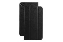 Фирменный оригинальный чехол обложка с подставкой для Huawei MediaPad T1 T1-701u 7.0 черный кожаный