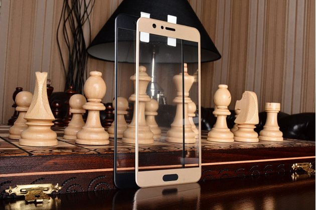Фирменная оригинальная 3D защитная пленка с закругленными краями которое полностью закрывает экран для телефона Huawei Honor 8 Pro 5.7/Huawei Honor V9 5.7(DUK-AL20) глянцевая