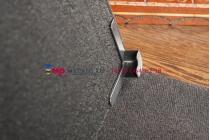 Чехол-обложка для Hyundai H-SP701G черный кожаный