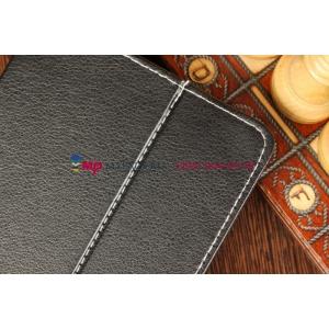 Чехол-обложка для Hyundai HT-7G черный кожаный