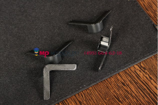 Чехол-обложка для Hyundai HT-8GR черный кожаный