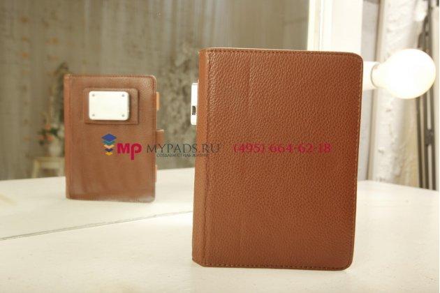 Чехол обложка с подстветкой/лампой для Inch S5i кожаный. Цвет на выбор