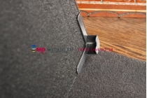 Чехол-обложка для Inch Regulus черный кожаный
