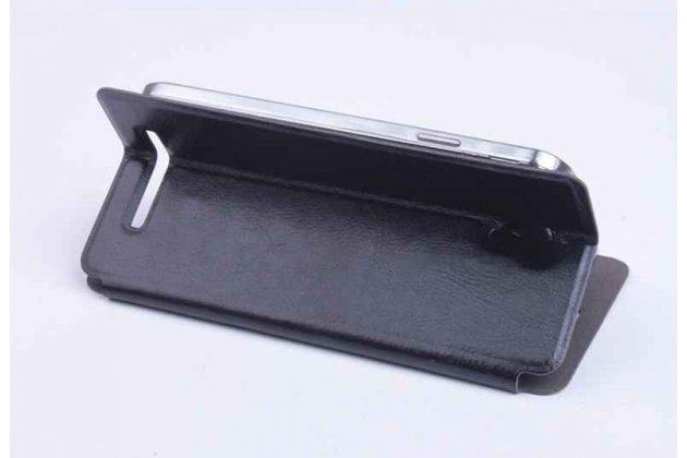 Фирменный чехол-книжка из качественной импортной кожи с подставкой для Jiayu S3 Plus / S3+ черный